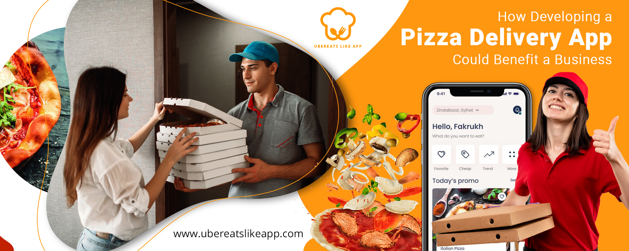 Pizza delivery app is the ideal solution to attract food buffs